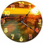 "WALKWAY TO BEACH Clock - Large 10.5"" Wall Clock - 2071"