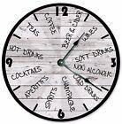 """DRINKS CLOCK Clock - Large 10.5"""" Wall Clock - 2060"""