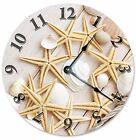 """STARFISH And SEA SHELLS Clock - Large 10.5"""" Wall Clock - 2105"""