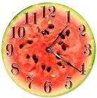 """WATERMELON CLOCK - Large 10.5"""" Wall Clock - 2088"""