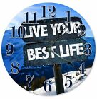 """LIVE YOUR BEST Life Clock - Large 10.5"""" Wall Clock - 2074"""