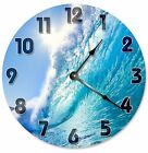 """SURFING WAVE Clock - Large 10.5"""" Wall Clock - 2120"""