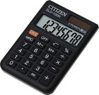 Citizen SLD-100N / 200 Pocket Calculator, Battery and Solar Power with Flap Case