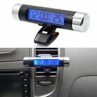 Car Air Vent Clip Stick On Electronic Clock Thermometer Digital LCD Display Mini
