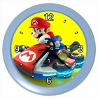 Super Mario Driving Collectible Picture Blue Green Wall Clock