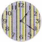 "10.5"" VERTICAL BOY STRIPES CLOCK - Large 10.5"" Wall Clock - Home Décor - 3011"