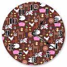 "10.5"" MULTICOLOR FLORAL CLOCK - Large 10.5"" Wall Clock - Home Décor Clock- 3014"