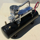 12 VOLT 200 PSI AIR COMPRESSOR W TANK PSI SWITCH LOWRIDER AIR RIDE HOT ROD BAGS