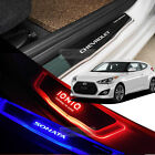 Clean LED Door Scuff Hairline Metal Plate for HYUNDAI 2011-2017 Veloster / Turbo