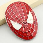 Car Truck Trunk Emblem Badge Red Spider Man Web Mask Vehicle Sticker Accessories