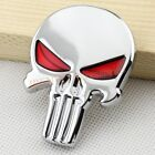 Red Eyes Coated Silver Punisher Car Truck Emblem Badge Vehicle Decal Accessories