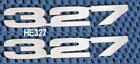 CHEVY 327 EMBLEM POLISHED LAZER CUT STAINLESS STEEL