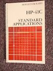HP 41C- Standard Application Manual only