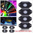 Multi Colors lamp Pod RGB 4pcs LED Rock Lights Wireless Bluetooth Music Flashing