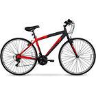 700c Men's HYBRID Road Mountain Bike Alu Frame Long Ride Bicycle 21 Speed Red