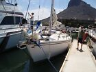 Catalina 30 ft  sailboat  damaged in dry marina