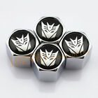 Silver Chrome Styling Decepticons Transformers Car Metal Wheel Tyre Valve Caps