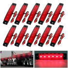 10x 12V LED Clearance Side Marker Light Indicator Lamp Strip Truck Trailer Lorry
