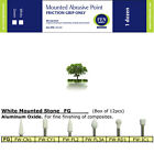 Dental Polishing White Mounted Arkansas Stones FG in CN1, FL2, FL3A, RD1 & CY1