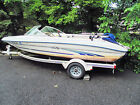 1997 175 SEARAY BOWRIDER 3.0LX ALPHA ON PAINTED STEEL TRAILER IN MENDHAM NJ PARD