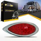 35LED Red Tear Drop Chrome Stop Brake Tail Trailer Utility Truck Clearance Light