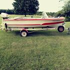 Vintage 1959 Larson Recreational Boat w/Trailer Evinrude Outboard