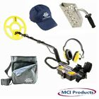 Whites Surfmaster PI Dual Field Metal Detector w/ Pouch, Hat & Booklets 800-0323