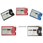 Mini Portable Multifuction 3 In 1 Card Holder Case Solar Power Calculator Gift