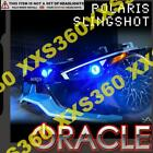 ORACLE Polaris Slingshot 15-16 BLUE LED Head/Foglight RINGS Halo Kit WATERPROOF