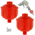 2pcs DISPOSABLE AIR FILTER-Water Trap HVLP Paint Spray Gun durable useful Hot