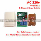 2CH AC 220v 10A relay wireless RF Remote Control Switch Transmitter+Receiver
