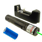 532nm Green Laser Pointer Light Pen Lazer Beam High Power 5mw 16340 Charger CGWY