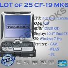 LOT of 50 Toughbook CF-19 MK6, i5-3320M/4GB/128SSD/500GB/Win 7Pro/DualTouch/CAM