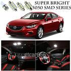5050 SMD White LED Interior Lights Package Kit For 2014-2016 Mazda 6 8pcs
