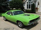 1970 Plymouth Barracuda CUDA 1970 cuda 440/6bbl real shaker car limelight green numbers matching