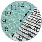 """10.5"""" CLEAR WATER BY THE DECK - Living Room Clock - Large 10.5"""" Wall Clock 4070"""