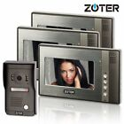 "ZOTER 7"" Inch Video Door Bell Home Phone Hands Free Intercom with 3x Monitors"