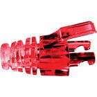 Platinum Tools 105043 Red EZ-Data Lock Strain Relief, 100 Piece