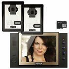 "ZOTER 8"" LCD Video Home Doorbell Phone Recording Intercom Entry Kit 2x Cameras"