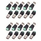 WildHD 20 Pack BNC Terminal and Male Balun Connector for CCTV Surveillance Vi...