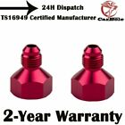 2PCS RED ALUMINIUM FLARE REDUCER ADAPTER AN10-AN6 FOR UNIVERSAL