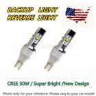 2x T15 Backup Reverse LEDs Light White CREE 30W for 03-07 Infiniti G35 Coupe US