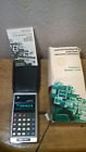 """Commodore Calculator """"Custom Green Line"""" GL-997RF BOX,INSTRUCTIONS,CHARGER- CASE"""