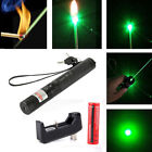 10Miles 532nm Green Laser Pointer Lazer Pen Visible Beam Light & 18650 & Charger