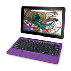 """2 in 1 Tablet Quad-Core 10.1"""" PC Laptop 32GB Android with Keyboard Purple NO TAX"""