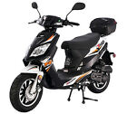 """New 49cc Moped Gas Scooter Motor Bike 12"""" Big Tires LED Lights 100% STREET LEGAL"""