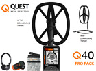 Q40 PRO Quest Metal Detectors - Wireless Headphone -11×9″ TurboD Waterproof Coil