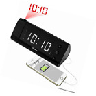 Electrohome EAAC475W USB Charging Alarm Clock Radio with Time Projection, Batter