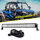 32inch 600W LED Light Bar Spot Flood Fit for Polaris Sportsman/RZR/Ranger ATV 50