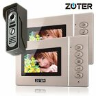 "4.3"" inch TFT LCD Color Video Door Phone Intercom w 2 Monitor Entry System"